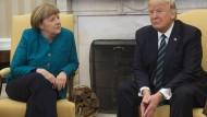 Bundeskanzlerin Angela Merkel zu Besuch beim amerikanischen Präsidenten Donald Trump