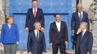 Alle hören auf Donald Trump: Der amerikanische Präsident dominierte den Nato-Gipfel mit seinen Launen.