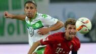 Spitzenspiel: Bayern gegen Wolfsburg