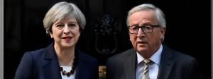 Premierministerin Theresa May und Kommissionspräsident Jean-Claude Juncker beim Treffen in der Londoner Downing Street Number 10.