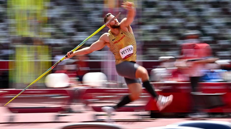 Johannes Vetter während der Qualifikation bei den Olympischen Spielen in Tokio