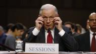 Sagt in der Russland-Affäre im Geheimdienstausschuss aus: der amerikanische Justizminister Jeff Sessions.