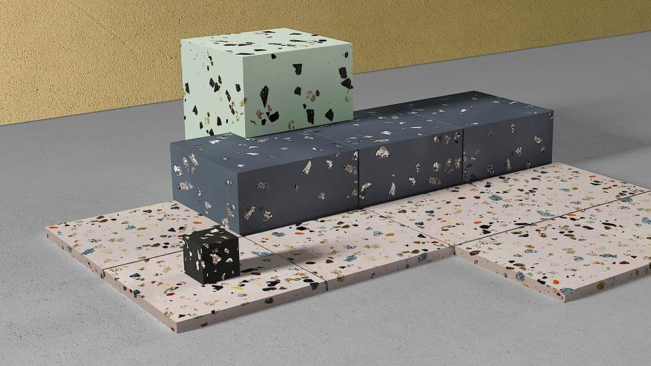 """Nachhaltiges Bauen: Mit dem Baustoff """"Urban Terrazzo"""" soll verhindert werden, dass kostbare Materialien unter dem Asphalt verschwinden."""