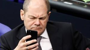Scholz will Mindeststeuer für Digitalkonzerne