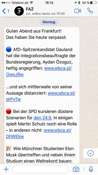 News Des Tages Per Whatsapp Telegram Und Facebook Messenger