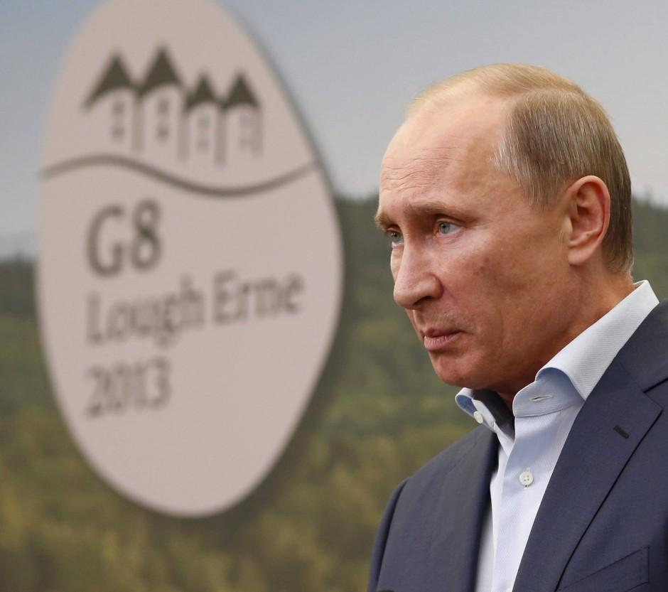 Da war er noch erwünscht: Russlands Präsident Putin 2013 auf dem G-8-Gipfel in Nordirland