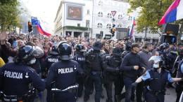 Krawalle bei Corona-Demo in Slowenien