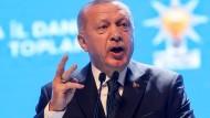 Jetzt sei es an der EU, ihren Teil der Last zu tragen, sagte der türkische Präsident Erdogan am Montag in Ankara