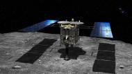 Auf der Jagd nach Proben: Die japanische Raumsonde Hayabusa 2 auf dem Asteroiden Ryugu