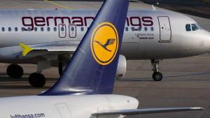 Rund 200 Flugausfälle wegen Streik bei Germanwings