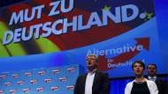AfD fünf Prozentpunkte hinter der SPD