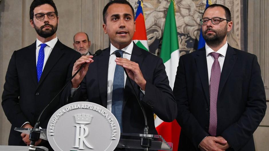 Am Mittwochabend in Rom: Luigi di Maio, Vorsitzender der Fünf-Sterne-Bewegung