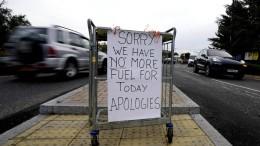 Britische Armee soll notfalls bei Benzin-Transport aushelfen