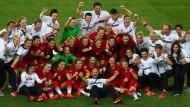 Teamfoto im Maracana: Deutschland gewinnt Gold