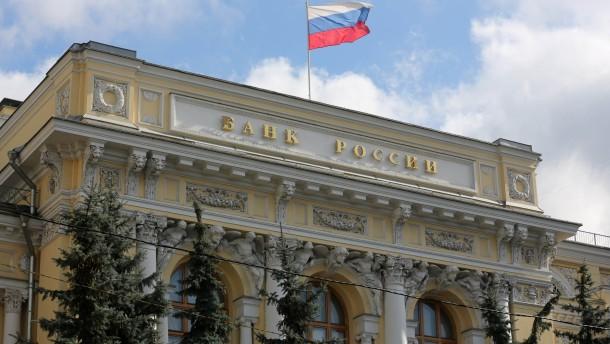 Russlands Notenbank hebt abermals den Leitzins an