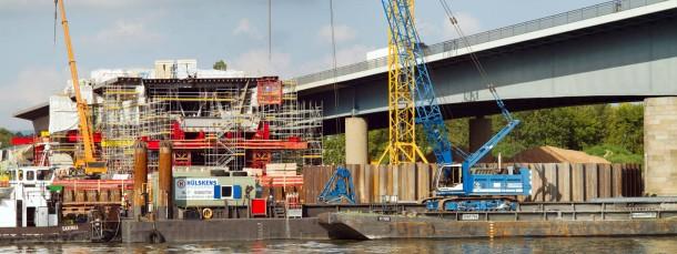 Die Sanierung der Schiersteiner Brücke bei Wiesbaden ist mit 225 Millionen Euro veranschlagt.