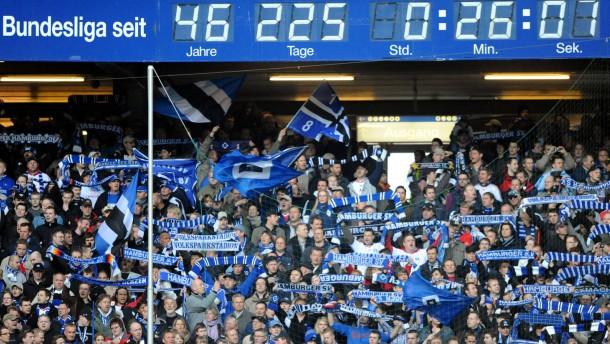Bundesliga-Uhr des Hamburger SV ist kaputt