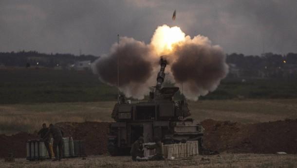 Israel antwortet mit Artilleriefeuer