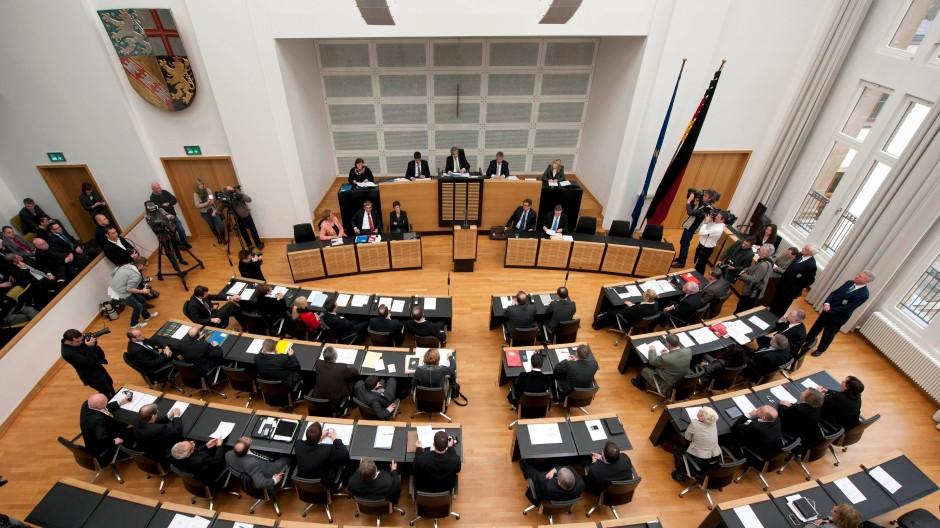 Wird am Sonntag neu gewählt: Der Landtag in Saarbrücken