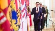 """Für sie ist es ein """"Kinderschutzgesetz"""": Bundeskanzler Sebastian Kurz und Vizekanzler Heinz-Christian Strache"""