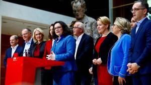 SPD verzichtet auf Sonderparteitag