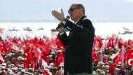 Staatspräsident Erdogan wirbt am Wochenende für das Referendum.
