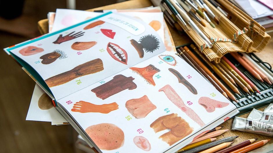 Der detailverliebte Blick: In ihrem Buch zeigt die Illustratorin Amelie Persson Körper in ihrer Vielfalt.