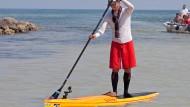 Der Extrem-Paddler Ben Friberg ist von Kuba bis nach Florida gepaddelt, die meiste Zeit stehend.