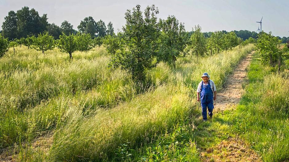 Eckart Brandt hat 1983 begonnen, ein Bioreservat für alte Apfelsorten aufzubauen und sagt, sie seien bekömmlicher und geschmacklich im Vorteil.