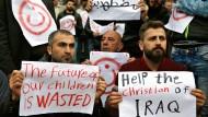 Irakische Christen im Libanon: Tausende von ihnen sind aus dem Irak und Syrien vor der Gewalt in ihren Ländern geflohen.