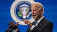 Joe Biden spricht bei einer Veranstaltung am Montag im Weißen Haus.