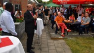 Stimmenfang im Kleingartenverein