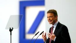 Sorge um die Deutsche Bank