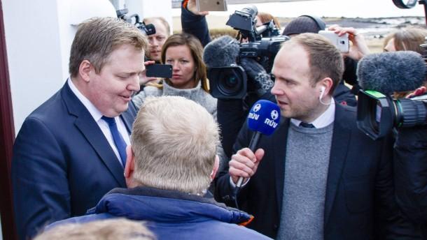 Isländischer Ministerpräsident will nicht endgültig zurücktreten