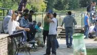 Einwanderer aus Tunesien, aufgenommen in Paris.