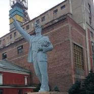 Denkmal aus einer anderer Zeit: Am Bergwerk Trudowskaja in Donezk