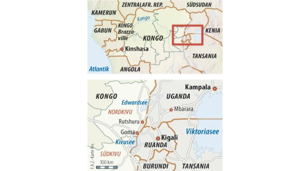 Karte / Kongo / Grenzregion