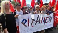 Proteste gegen Aufnahme von Flüchtlingen in der Türkei