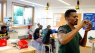 Flüchtlinge in einem Projekt zur beruflichen Integration in Miesbach in Bayern