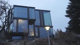 Gläsernes Haus in den Weinbergen