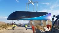 Ein Prototyp des Hyperloop One (Juli 2017)