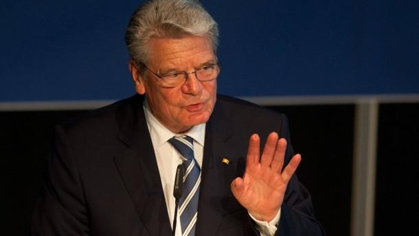 Gauck: Forscher sind Gesellschaft verpflichtet