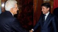 Der designierte Ministerpräsident Conte wird am Donnerstag von Staatspräsident Mattarella empfangen