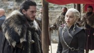 Kit Harington und Emilia Clarke am Set von Game of Thrones
