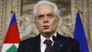 Präsident von Italien: Sergio Mattarella steht vor einer Mammutaufgabe.