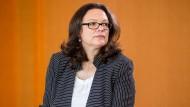 Andrea Nahles (SPD) fordert ein neues Konzept zum Kompromiss zwischen Digitalisierung und Sozialer Marktwirtschaft.