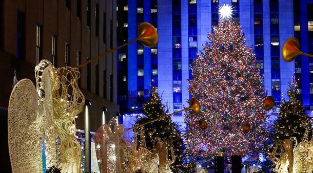 Wo Steht In New York Der Weihnachtsbaum.Oh Tannenbaum In New York Glitzer Glanz Und Gloria