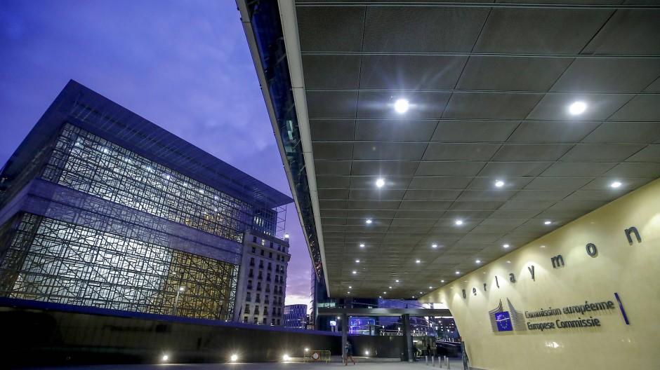 Das Hauptquartier der EU-Kommission in Brüssel.