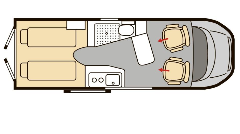 Der Innenraum des Karmann Dexter.