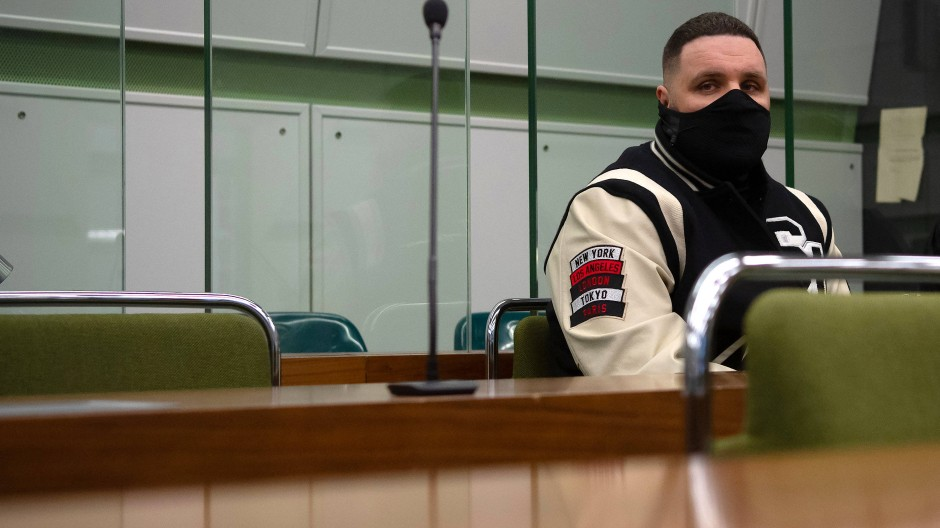 Der Rapper Fler im Januar vor Gericht